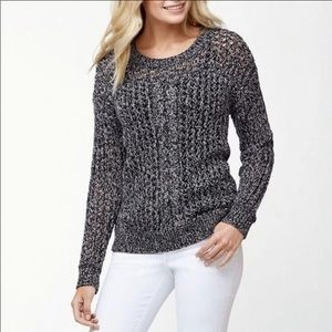 Tommy Bahama Cascade Cable Sparkle Gray Sweater